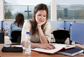 Studying woman — Stock Photo