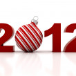 Royalty-Free Stock Photo: 3d - 2012, Happy New Year !