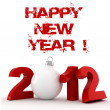 3d - 2012, Happy New Year ! — Stock Photo
