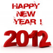 3d - 2012, Happy New Year ! — Stockfoto