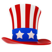 3d hat - usa independence day, on white background — ストック写真