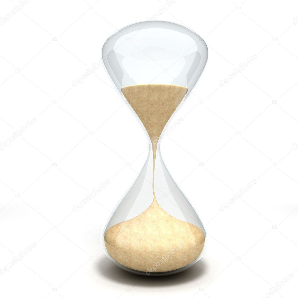 3d hourglass sandglass on white background — Stock Photo #7877490