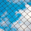 Iron Grid fence - Stock Photo