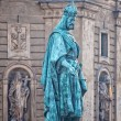 Charles statue in Prague - Stock Photo