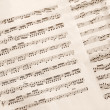 Music sheet - Foto Stock
