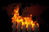 Accidente de ecomy mundial — Foto de Stock