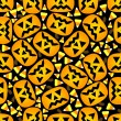 Seamless Jack O'Lantern and Candy Corn Background — Stockvektor