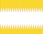 Set of Sharpened Pencils Background with Copy Space — Stock Vector
