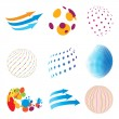 Stock Vector: Set of abstract icons