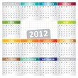 Calendar for Year 2012 — Stock Vector