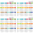 Calendar for 2012, 2013, 2014, 2015 year - Imagen vectorial