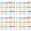 Calendar for 2012, 2013, 2014, 2015 year - Stock Vector