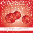 Royalty-Free Stock Vector Image: New year and Christmas card with decorations