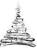 Grunge Christmas tree — Stock Vector