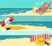 летние баннеры — Cтоковый вектор
