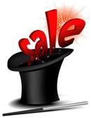 Magic sale hat — Wektor stockowy