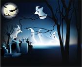 Halloween ghosts — Stock Vector