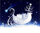 Winter sleigh — Stock Vector