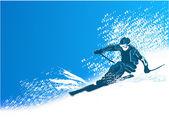 Skier fun — Stock Vector