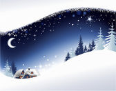 Christmas landscape background — Stok Vektör