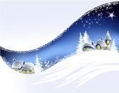 Christmas landscape background — Stock Vector