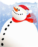 Happy snowman — Vettoriale Stock