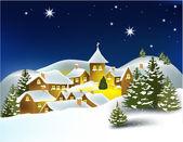Christmas winter town — Stock Vector