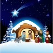 Christmas nativity scene — Stock Vector #7058149