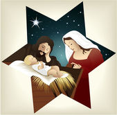Christmas nativity scene — Wektor stockowy