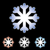 Snow Flakes with various colours — Stock Photo