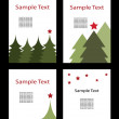Stock Vector: 4 Christmas Backgrounds