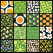 Royalty-Free Stock Imagen vectorial: 16 Colorful Abstract Backgrounds: Flowers