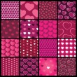 16 Colorful Abstract Backgrounds: Hearts — Stock Vector