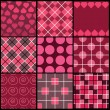 A set of 9 vector patterns for Valentines day — Stock Vector #7299133