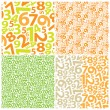 Background with numbers — Stock Vector #7299250