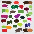Collection of Colorful Speech And Thought Bubbles Background Vector — Stock Vector #7299472