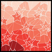 Abstract Geometric Mosaic Background: Stars — Stock Vector