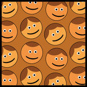 Smile faces background pattern — Stock Vector