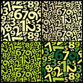 Background with numbers — Stock Vector