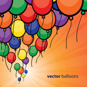 Party Balloons Background — Stock Vector