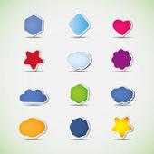 气泡和图标 — 图库矢量图片