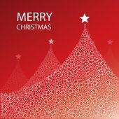 Christmas Tree Background: Stars — Stockvektor