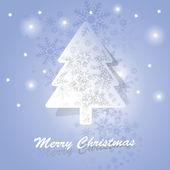 Cartão árvore de natal — Vetorial Stock