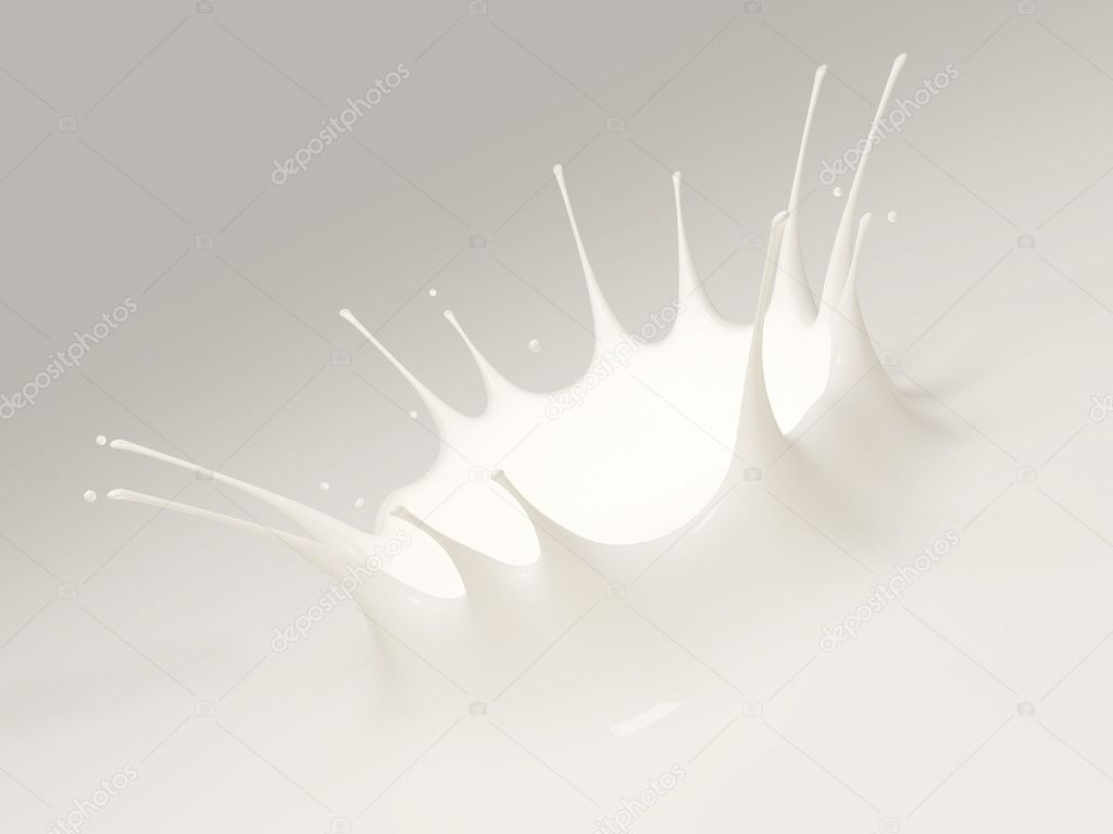 Splash of milk on a white background  Stock Photo #6871653