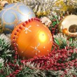 Christmas Decoration. Swallow dof — Stock Photo #7399713