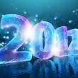New Year's Eve 2012 (Ice figures) - Stock Photo