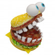 Crazy burger — Stock Photo