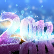 New Year's Eve 2012 (Ice figures) — Stock Photo #7459227