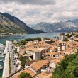 Beautiful view of Kotor Bay (Montenegro, Adriatic sea) HDRI image - Stock Photo