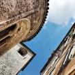 Old Buildings In Typical Italian Medieval Town. HDRI image - Stock Photo